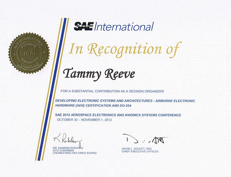 SAE session organizer | Tammy Reeve