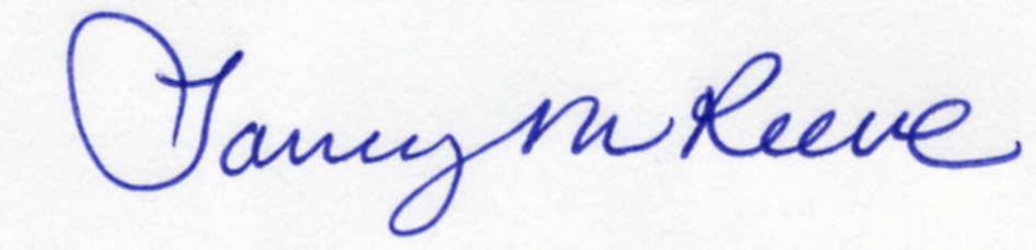 Tammy Reeve Signature